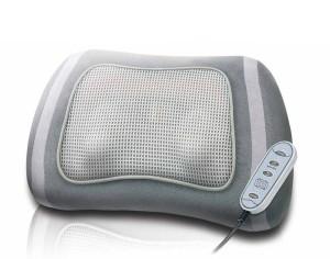 Shiatsu Massagegerät Shiatsu Massagekissen mit zuschaltbarer Rotlicht- und Wärmefunktion, rotierende Massageköpfe mit wählbarer Drehrichtung, Kabelfernbedienung, extra leiser Motor